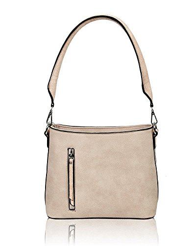 Unbranded - Synthetic Leather Shoulder Bag Light Pink Woman