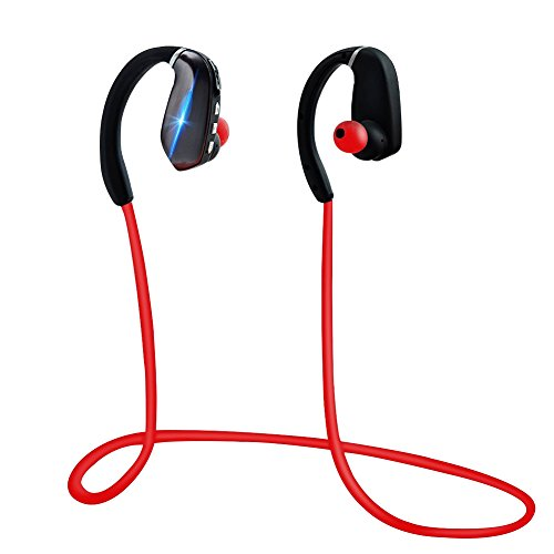 Sports Headphones Bluetooth,Noyazu Best Wireless Earphones Sweatproof HD Stereo In Ear Earbuds w/Mic Cored Headset for Gym Running Noise Reduction On-Ear Headphones