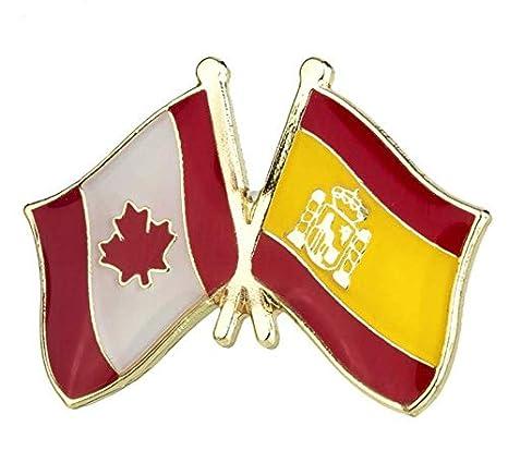Pin de Traje de Bandera de Canada y España: Amazon.es: Hogar