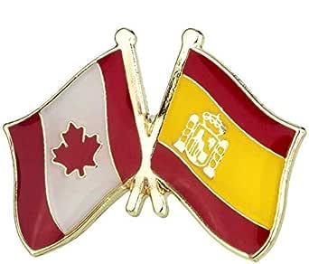 Pin de Traje de Bandera de Canada y España: Amazon.es: Ropa y accesorios
