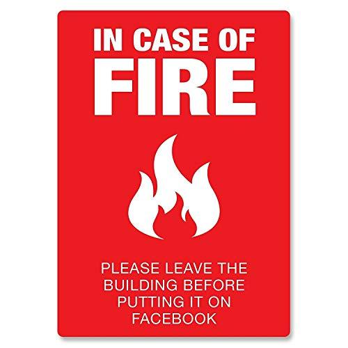 火事の場合はお任せください 金属板ブリキ看板警告サイン注意サイン表示パネル情報サイン金属安全サイン
