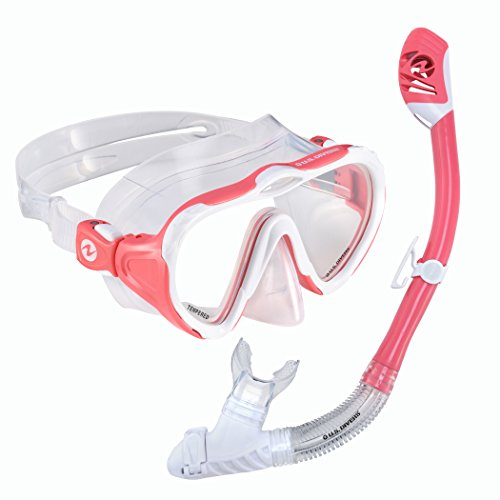 U.S. Divers Lady Starlet LX Mask/Tucson Snorkel, Coral