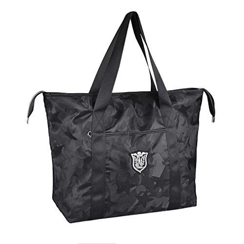 - Women's Travel Tote Shoulder Handbag,Super Polyester Fibre Extra Large Lightweight Water Resistant (Camouflage Black)