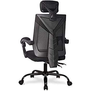 Ergonomic Home Office Desk Chair High-Back 150 Degree Reclining Swivel Mesh Computer Chair Gaming Chair with Lumbar Support Comfy Headrest and Armrest