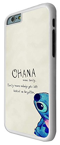 103 - Ohana Family Meaning Fun Cool Design iphone 6 6S 4.7'' Coque Fashion Trend Case Coque Protection Cover plastique et métal - Blanc