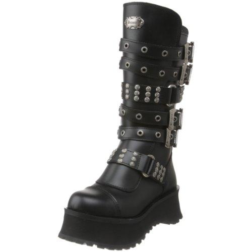 Pleaser Men's Ravage-302 Boot,Black Leather,8 M US -