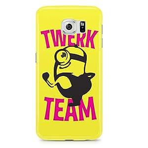 Samsung Galaxy S6 Edge Case Minion Case Twerk Team Sleek Design-Durable Wrap Around Phone Cover