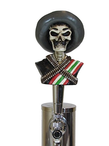 Zapata Sports Bar Beer Tap Handle Kegerator Resin Zombie Breweriana Bar