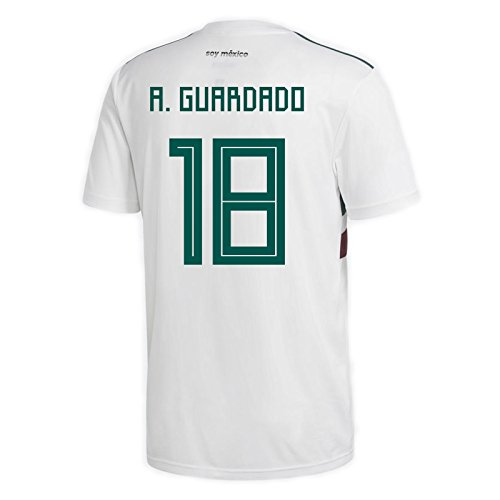 adidas A. GUARDADO #18 Mexico Away Men's Soccer Jersey World Cup Russia 2018 (XL) ()