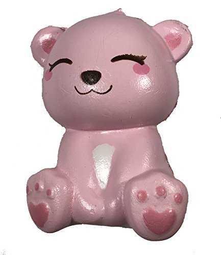 (Mini Happy Polar Bear Squishy Pink Smile Version)