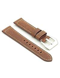 DASSARI Salvage Tan Vintage Leather Watch Band for Panerai 24/22 24mm