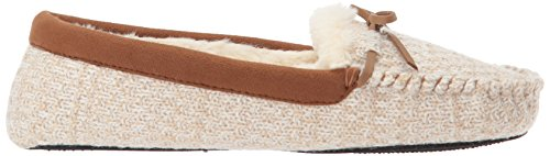 Dearfoams Womens Mixed Material Moccasin Oatmeal Heather zquNIfJXsT