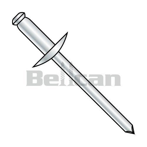 Bellcan BC-SDS46L Large Flange Steel Rivet Steel Mandrel 1/8 X .25-.37 (Box of 8000) ()