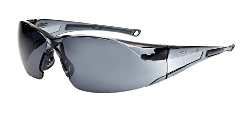 """Bollé RUSHPSF One Size Smoked Glass""""Rush"""" Safety Spectacles - Grey"""