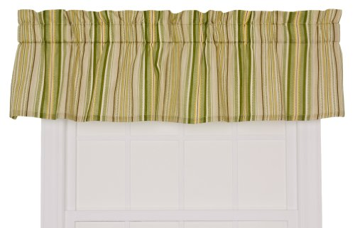 Ellis Curtain Kensington Stripe 70-By-12 Inch Tailored Valan