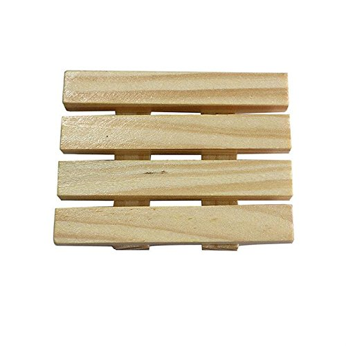 Nynoi Accessible 97cm Natural Wood Soap Tray Holder Dish Shower Wash Bathroom Soap Case