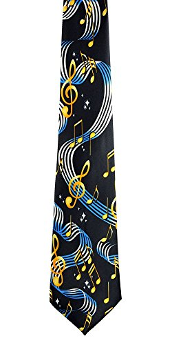Musical Notes Mens Necktie (New Mens Colorful Musical Notes Fashion Necktie 9)