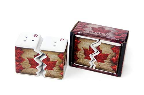 Toronto Travel Leafs Maple Mug (Vintage Maple Leaf Salt & Pepper Shaker Set for Kitchen Travel True North)