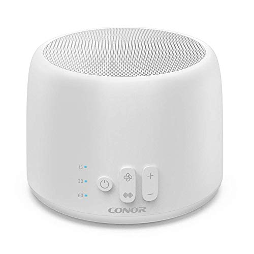 Conor White Noise Machine, White Noise Sound Machine for Sleeping with 24 Soothing Sound & Memory Function, Sleep Therapy Machine with 3 Timers & 2 USB Output for Baby, Kids, Adult, Tinnitus Sufferer
