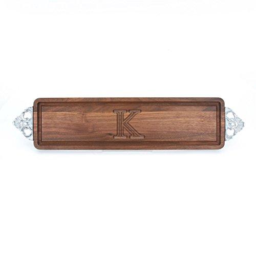 BigWood Boards W500-SC-K Long Bread Board, 6-Inch by 22-Inch by 0.75-Inch, Monogrammed