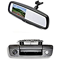 "Tailgate Handle Backup Camera & 4.3"" Mirror Monitor for 2009-2016 Dodge Ram Trucks"