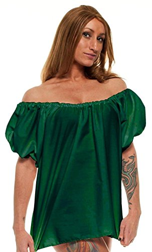 [Faire Lady Designs Women's Renaissance Celtic Costume Top One Size Green] (Irish Chemise)