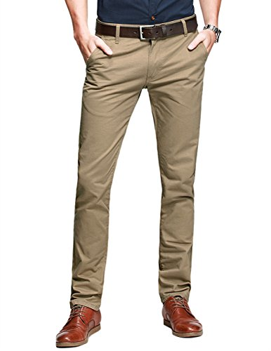 Slim Fit Khaki Pants - 1