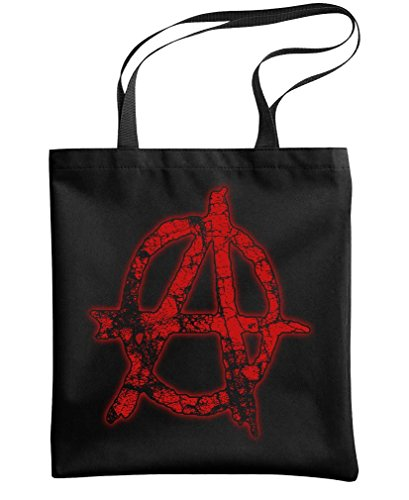 Anarchy   Evil Government Fake News   Heavy Duty Tote Bag  Black