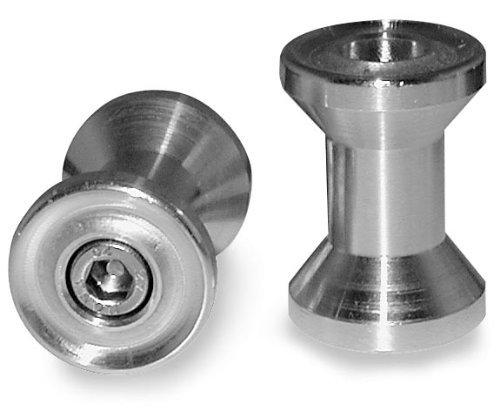 (99-18 YAMAHA YZF-R6: Vortex Swing Arm Spools (6mm) (Silver))