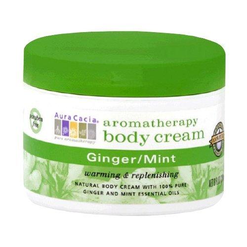 Aura Cacia Body Cream Ginger-Mint, 8 Fluid Ounce by Aura Cacia (Gingermint Body)