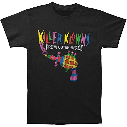 Killer Klowns From Outer Space Men's Popcorn Gun Slim Fit T-shirt Black