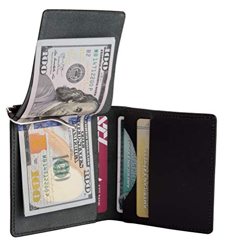 Men's RFID Blocking Wallet with money clip - Black (Best Money Clip Wallet)