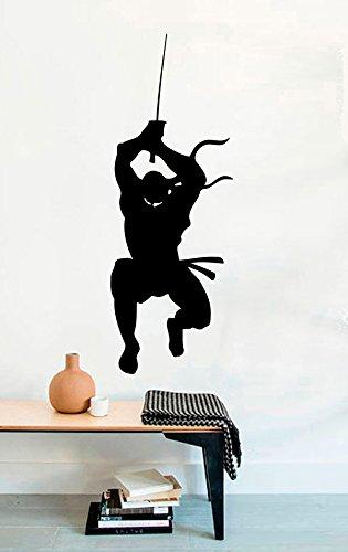 Ninja-Vinyl-Wall-Decals-Bleach-Mural-Decor-Warrior-Sticker-MK4114