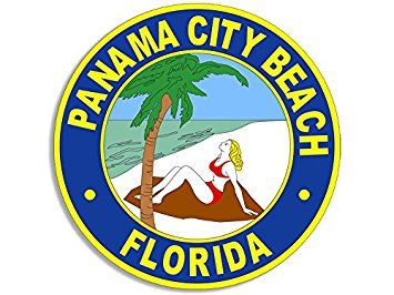 MAGNET Round PANAMA CITY BEACH Seal Magnet(florida logo FL official) Size: 3 x 5 inch