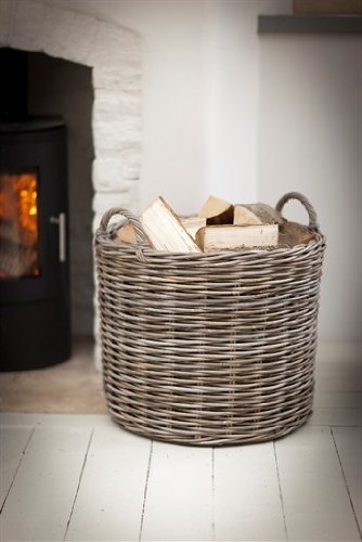 Garden Trading Giant Log Basket - Rattan (BAWI07)