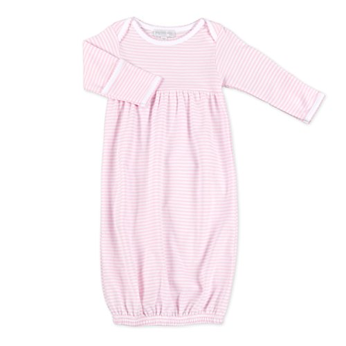 Magnolia Stripe - Magnolia Baby Baby Girl Stripes Essentials Embroidered Gown Pink Newborn