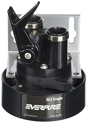 Everpure EV9259-14 QL3 Single Filter Head with Bracket, Shut-off valve, and 3/8 inch NPT ()