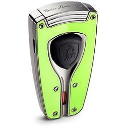 Tonino Lamborghini Forza Green Lacquer Torch Flame Lighter