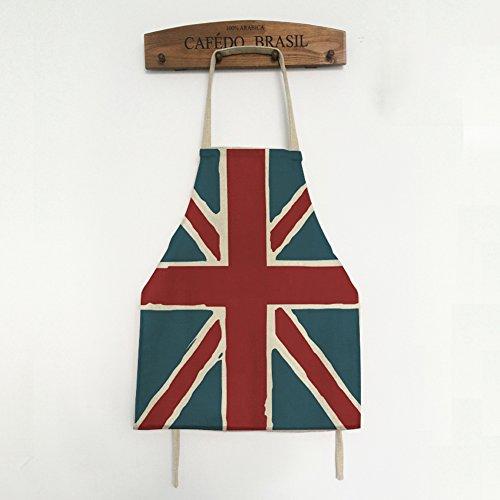 (A.B Crew Cute Flag Kitchen Apron Fashion Home Cook Apron Vintage Linen Cake Apron for Adults, Union Jack)
