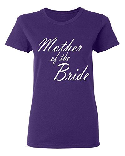 P&B Mother Of the Bride Women's T-shirt, XL, Purple (Bride Womens Light T-shirt)