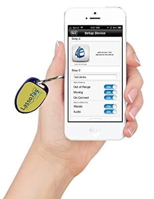 LassoTag iBeacon - Yellow: Bluetooth Low Energy (BLE) Tracking Beacon making Valuables Smarter for iOS / iPhone / iPod / iPad.