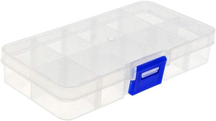 1 PCS Transparente 10 Rejillas Plastico Caja de Almacenaje ...