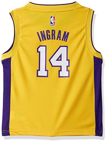 Outerstuff NBA Los Angeles Lakers-Ingram Kids Replica Player Road Jersey, Medium(5-6), Regal Purple