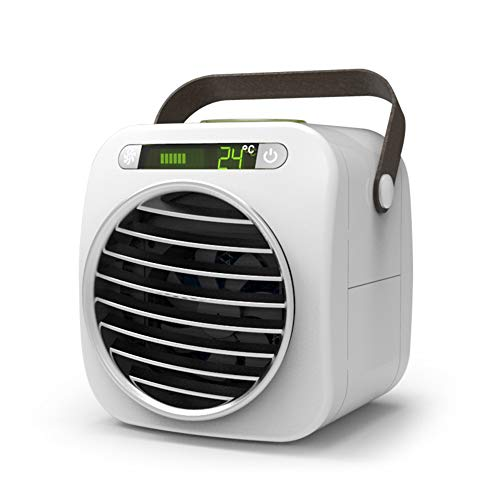 GJF USB Mini Air-Cooling Fan Humidifier, 3 Wind Speed   Adjustable, Silent Energy-Saving Refrigerator, Portable Lightweight Air-Conditioning Fan, Home Office Vacation-White