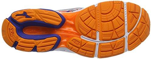 Mizuno Wave Catalyst 2, Zapatillas de Running para Hombre Azul (Mazarine Blue/silver/clownfish)