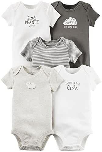 Carter's 5 Pack Bodysuit (Baby) - Assorted - 12 Months