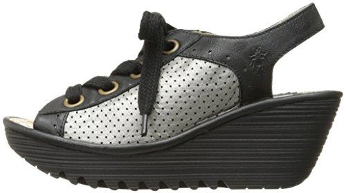 FLY London Women's Yuta617fly Platform Sandal, Black/Lead Mousse/Borgogna, 40 EU/9-9.5 M US by FLY London (Image #5)