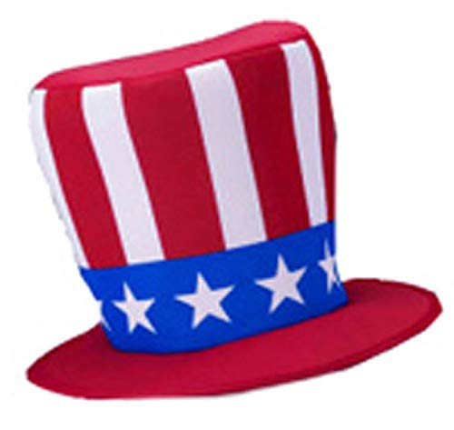 ts Patriotic American Uncle Sam Star Spangled Top Hat Costume Accessory ()