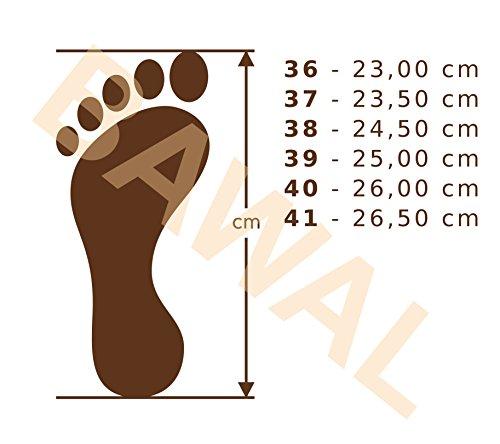 naturel pantoufles Rosa 41 pour confort cuir pantoufles les Chaussons femmes taille Beige marron Bawal chaussons 36 5Yqapn