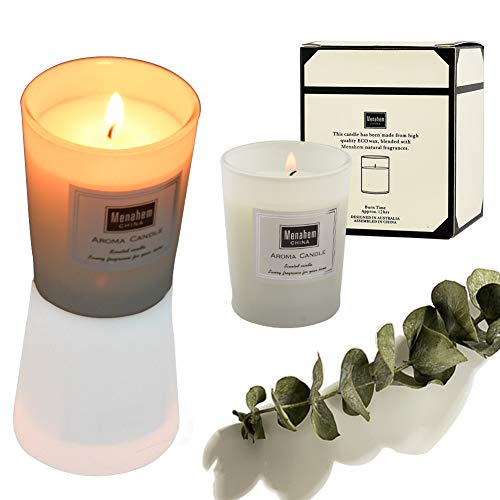 - Scented Candles-(Amber & Smoke) for Smoke Odor Eliminator Candle, Fresh Scent, Pure Natural Plants, Efficient for Eliminate Cigarettes, Cigars or Pets Odor in Home, Room and Car Air Freshener- 2 Pack